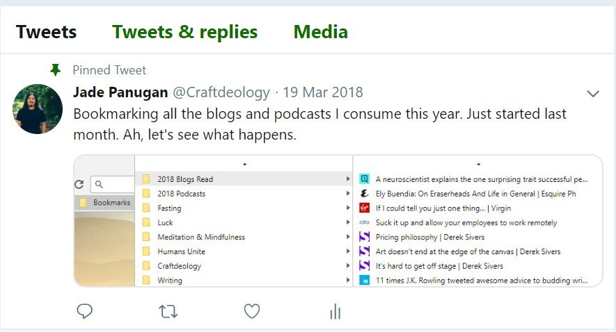 Blogs and Podcasts Consumed 2018